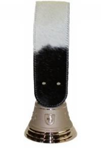 Echte Glocke Bronze mit Riemen Kuhfell Holstein, Nr. 8