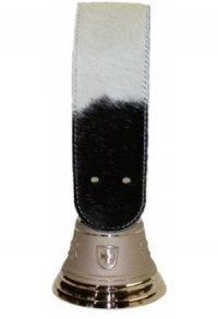Echte Glocke Bronze mit Riemen Kuhfell Holstein, Nr. 12 H
