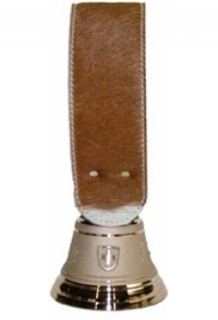 Echte Glocke Bronze mit Riemen Kuhfell Simmental, Nr. 9