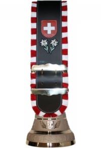 Glocken Schweiz mit Fransen-Riemen und individuellem Logo/..