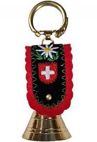 Schlüsselanhänger Glocke aus Messing