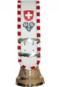 Glocken Schweiz mit Riemen weiss, Nr. 30 H