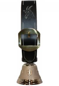 Echte Glocke Bronze mit geschnitztem Riemen Bock, Nr. 8