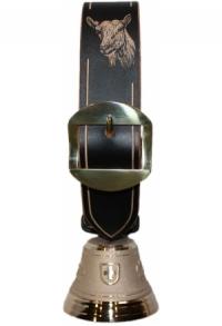 Echte Glocke Bronze mit geschnitztem Riemen Geiss, Nr. 8