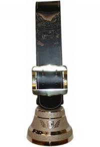 Echte Glocke Bronze mit geschnitztem Riemen Alp, Nr. 20